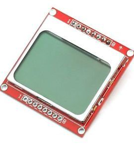 1PCS-84X48-8448-Nokia-5110-LCD-Module-with-blue-backlight-adapter-PCB-0
