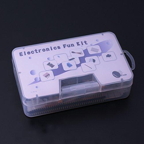Raspberry Pi MEGA2560 ELEGOO Electronic Fun Kit Breadboard Cable Resistor Capacitor LED Potentiometer for Arduino Learning Kit UNO