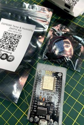 ESP8266 Wireless Temperature & Humidity Kit www.mkme.org