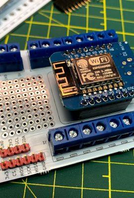 Wemos D1 Mini ESP8266 breakout board screw terminals